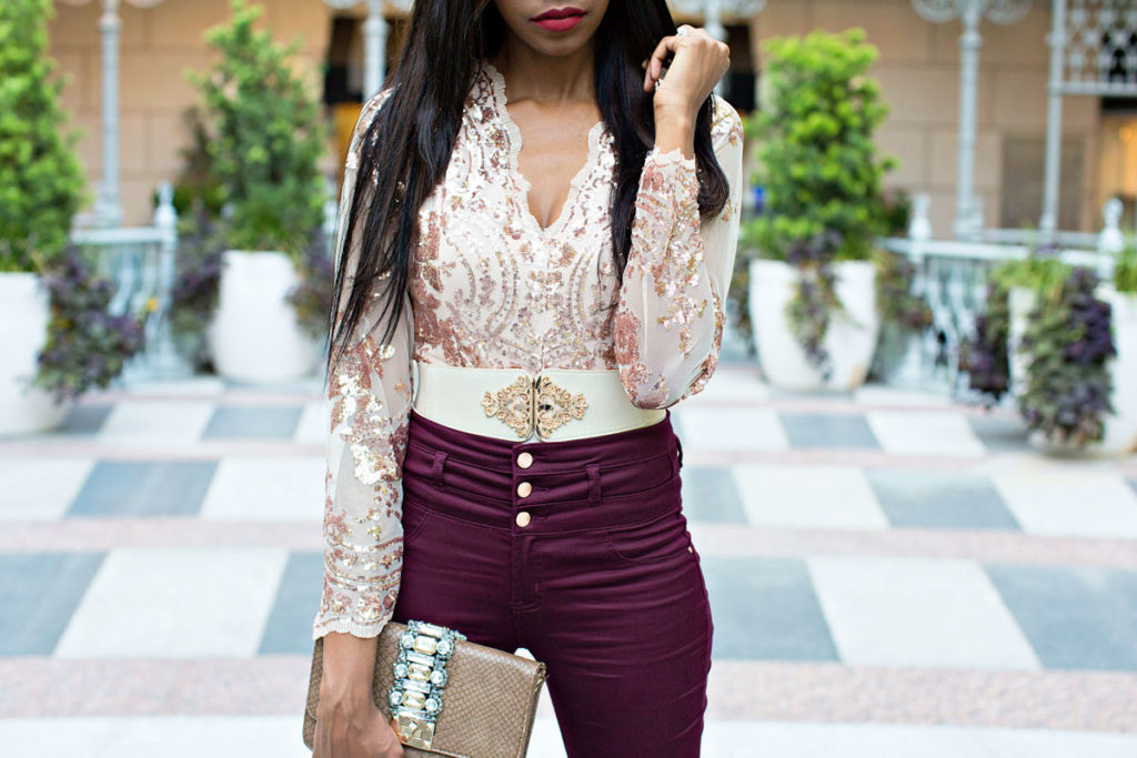How to Wear Sequins in the Fall