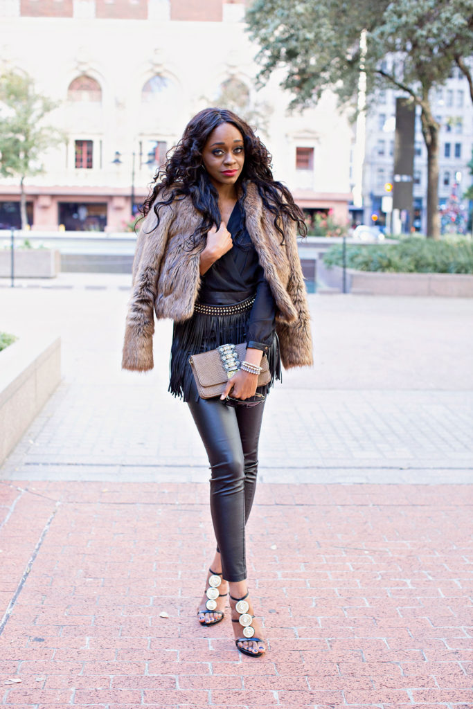 How to Style Faux Fur Jacket