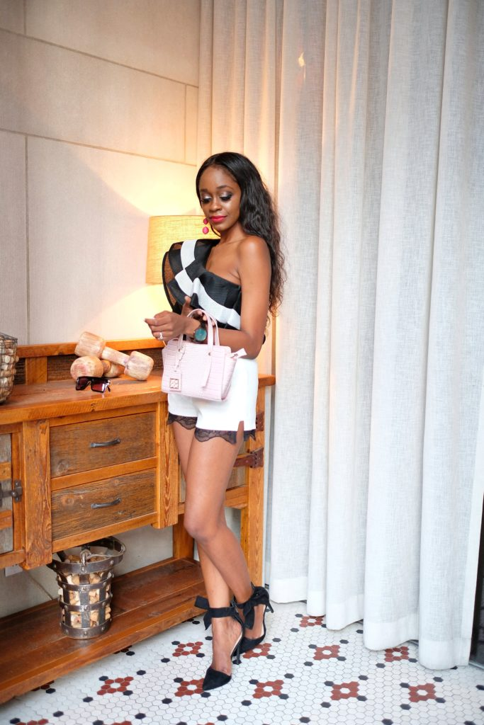 ruffle bodysuit styled by popular Dallas fashion blogger Fresh Foreign & Fierce