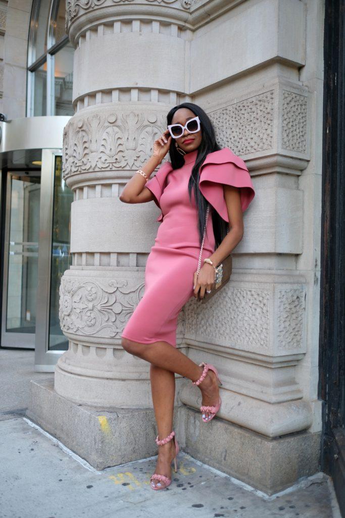 ruffle dress nyfw streetstyle cosmopolitan