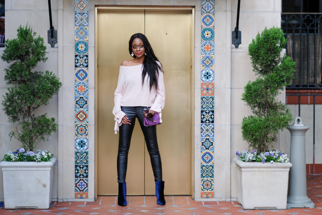 Velvet booties - Be a Stiletto in a Room Full of Flats by popular Dallas fashion blogger Foreign Fresh & Fierce