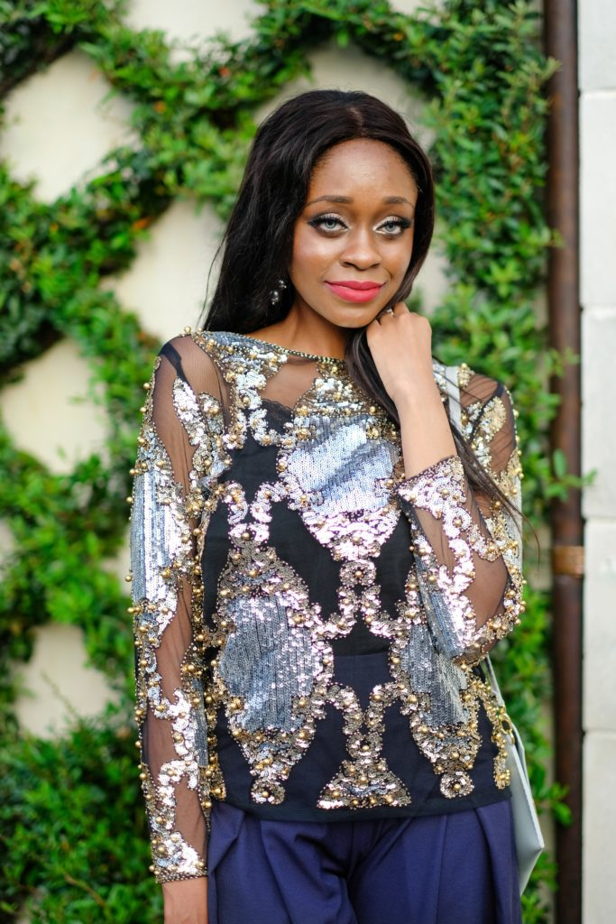shop akira sequin top - Metallic Trend Inspiration by Dallas style blogger