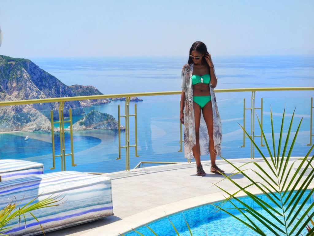 The Most Breathtaking Views at Petani Bay Hotel Kefalonia, Greece by popular Dallas travel blogger Foreign Fresh & Fierce