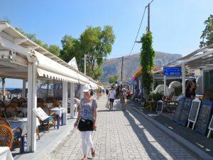 kamari beach santorni greece