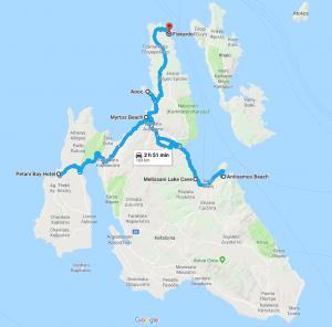 kefalonia greece map itinerary