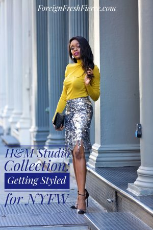 H&M Studio Collection: Getting Styled for NYFW