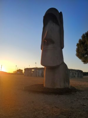 Moai statues Ingram Travel around the world without a passport